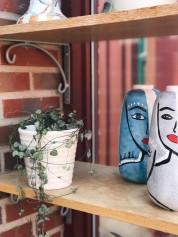 Blå+grå vas